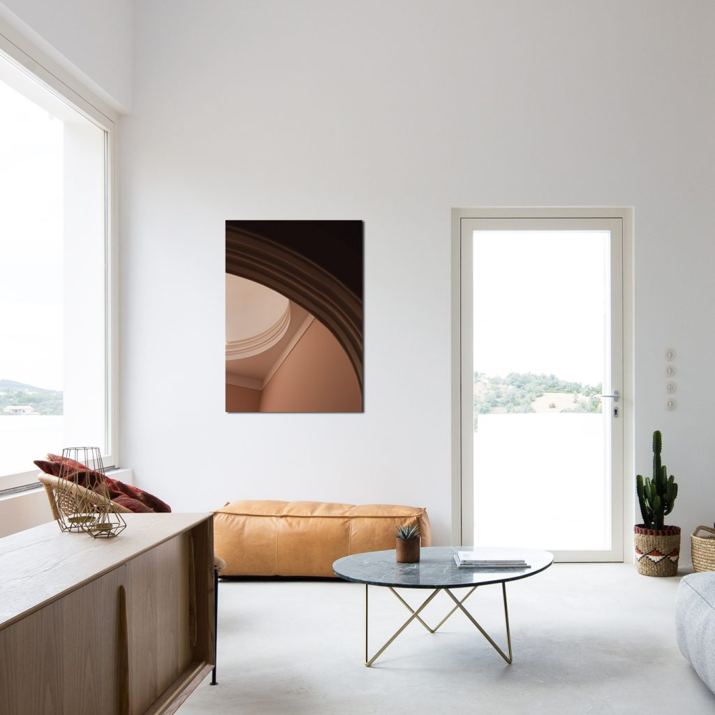 Wall decor with abstract architecture photo