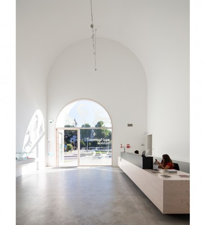 Cultural center reception area